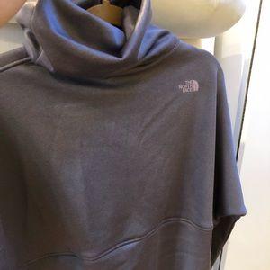 BNWT North Face mock turtleneck poncho sweatshirt